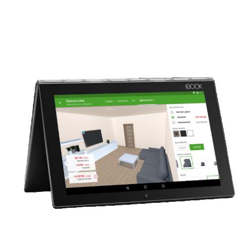 Moderní makléř - na schůzky s tabletem místo papírů